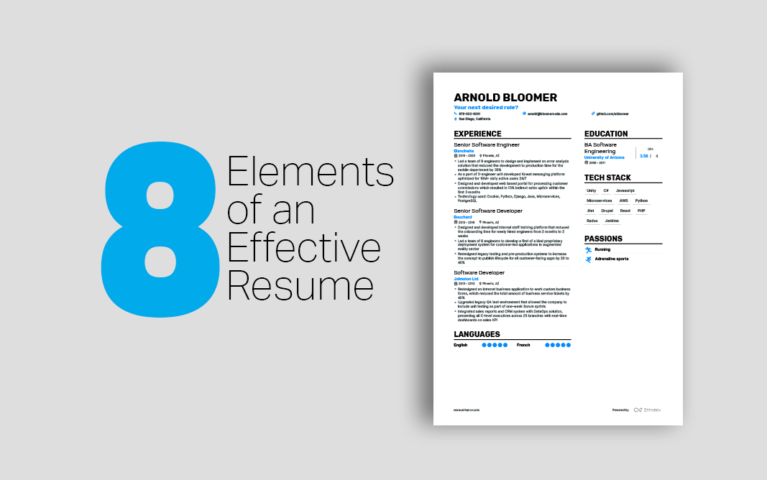 8 Elements of an Effective Technical Resume